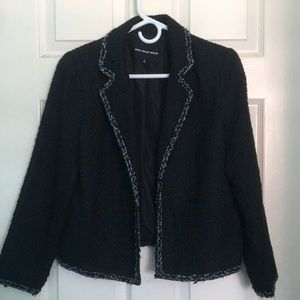 Who What Wear Black Blazer with Outline Design